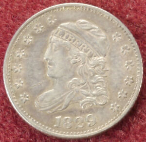 United States Capped Bust Half Dime 1829 (E2108)
