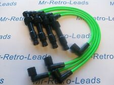 LIME GREEN 8MM PERFORMANCE IGNITION LEADS CORSA C16XE X16XE X14XE 16 VALVE LEADS