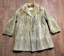 Original Vintage 1960s Golden Beige Musquash Fur Coat Size 14/16 Vintage Clothes