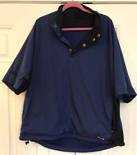 Ping Golf Collection Men's XL Blue Black Panel 1/2 Button SS Wind Jacket