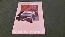 MINT May 1988 RENAULT ESPACE GTS / TXE / 2000-1 INJECTION - UK 30 page BROCHURE