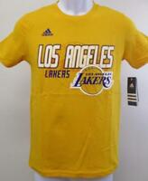 New Los Angeles Lakers Youth Sizes S-M-L-XL Yellow Adidas Shirt MSRP $20