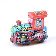 Retro Steam Train Reminiscence Children Vintage Wind Up Tin Toys h*