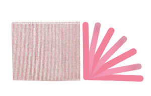 Premium Pink/Lt Pink 280/320 Grit Cushioned Washable Beauty Salon Nail Files