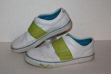 Puma El Rey Cross Perf Casual Sneakers, #351958-01, Wht/Lime/Blue, Womens US 8.5