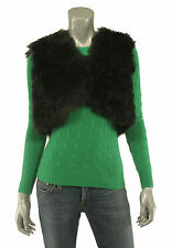 Ralph Lauren Black Label Shearling Fur Vest Jacket L New $1498