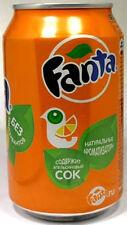 FULL NEW 11oz 330ml Can Genuine Russian Coca-Cola Orange Fanta Russia Circa 2012
