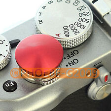 Red Metal Soft Release Button for Leica Contax Fujifilm X100 size:L