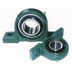 4 Pcs 40 mm UCP208 Long Square Flanged With Housing Bearing
