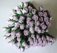 20 LILAC CARD CRAFT ROSES 4MM FOR CARDS OR CRAFTS