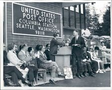 1967 US Rep Brock Adams Post Office Dedication Columbia Station WA Press Photo