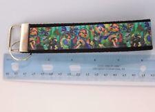 Splatoon Grosgrain Ribbon Webbing Keychain Wristlet Key Fob 6 inch