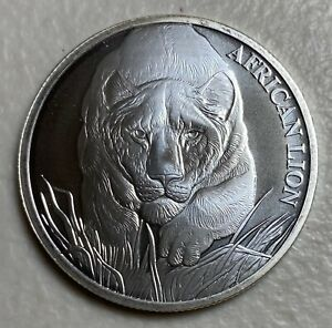 2017 Chad S5000F African Lion 1oz Silver Uncirculated with cert of authenticity