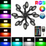8pcs RGB LED Rock Lights Pod Offroad Truck Boat Lamp Under Glow Remote Control