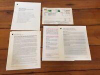 Lot Vtg 2001 Macintosh Computer Software License Mac OS X Booklet Guides Receipt