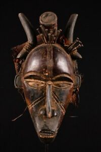 15090 African Authentic Bakongo Mask DR Congo