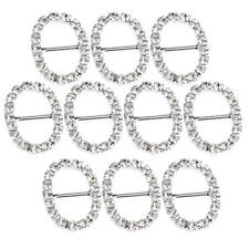Set de 10pcs Boucle de Ruban Strass Alliage Décoration de Carte Cadeau