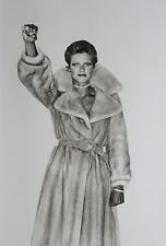 Helmut Newton Sumo Photo 50x70cm Vogue 1974 Fur Coat Pelzmantel, Anjelica Huston