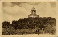 Zámek Humprecht Sobotka Tschechien alte s/w AK 1953 Blick auf den Burgturm Wald