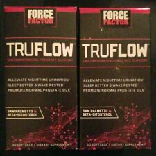 (2) Force Factor TruFlow Uncompromising Prostate Support = 60 Softgels. EX 3/20