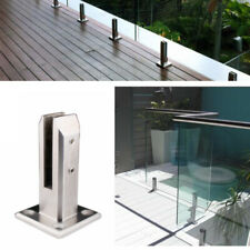 Stainless Steel Glass Clip Floor Stand Balcony Pool Balustrade Railing Clamp Kit