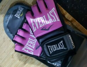 Everlast Pro Style Grappling MMA Gloves (S/M) Pink - NEW