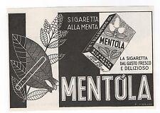 Pubblicità 1940 SIGARETTE MENTOLA CIGARETTES SMOKE advertising werbung publicitè