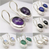 925 Silver Earrings FRESH WATER PEARL & Other 13 Gemstones Variation Available