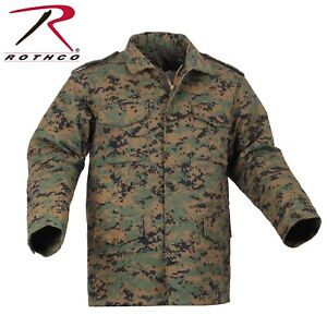 ROTHCO M-65 Field Jacket with Removable Liner (Digital Camo, Size: M)