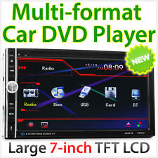 "7"" 2 Double DIN Car Stereo Head Unit Radio DVD Player USB CD RMVB Bluetooth TU"