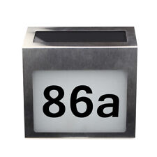 Solar Lighted Address Signs House Number For House Street Mailbox Led Plaque
