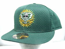 New Era 59/50 Oakland Athletics Batting Practice Fitted Baseball Cap 7 5/8 NEW