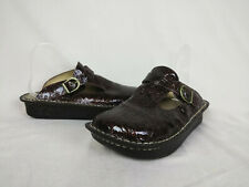 Alegria ALG-512 Brown Tooled Classic Clogs Slide Women's Size 40 EUR 9.5 - 10 US