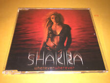 SHAKIRA hit single WHENEVER WHEREVER 4 track CD inevitable SUERTE + STICKERS !!!