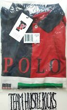 POLO RALPH LAUREN STADIUM COLORED-BLOCKED NAVY RED 1992 size LARGE runs like XL