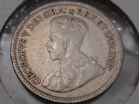 1917 Silver Canadian Five cent coin. 5c. Canada. #11