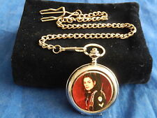 MICHAEL JACKSON CHROME POCKET WATCH WITH CHAIN (NEW)