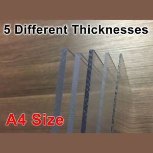 A4 Sheets Clear Perspex Acrylic Cut Sheets Signs Display UV Sheet 1.5mm - 5.5mm