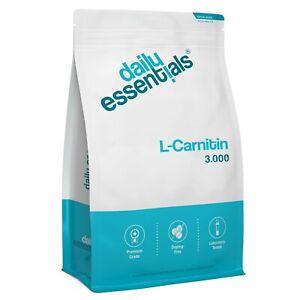 L-CARNITIN 3000 - 500 Tabletten Vegan - Beste Qualität + Hochdosiert Tartrat
