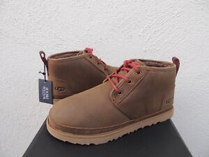 UGG NEUMEL GRIZZLY WATERPROOF LEATHER WINTER ANKLE BOOTS, US 10/ EUR 43  ~NIB