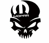 Dodge Mopar Skull Head Challenger Charger Vinyl Decal Sticker SRT R/t Hemi