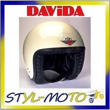 80113 CASCO DAVIDA 80-JET STANDARD CREAM/BLACK LEATHER TAGLIA L