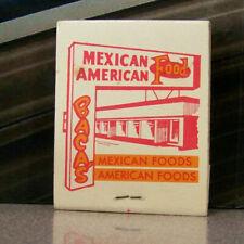 Vintage Matchbook A9 Albuquerque New Mexico Baca's Mexican Kitchen Restaurant