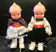 Vintage Pair Jesco Kewpie Dolls - 80 s