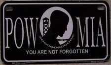 Aluminum Motorcycle License Plate Military POW MIA NEW Wheelchair or Golf Cart