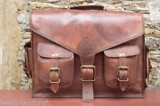 Men's Retro Leather Brown Messenger Satchel Shoulder Bag Briefcase Laptop Bags
