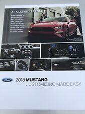 2018 FORD MUSTANG 6-section Dealer Ordering Guide Original Sales Brochure