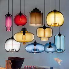 Colorful Glass Pendant Lamp Retro Vintage Chandelier Lighting Fixture Deco Lamp