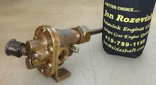 "Oberdorfer Brass Body Pump for Hit and Miss Old Gas Engine 3/8"" Pipe Very Neat!"