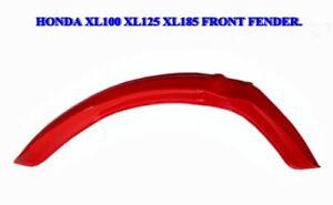 """HONDA XL100 XL125 XL125S XL185 XL185S FRONT FENDER """"RED PLASTIC"""" [ES279]"""
